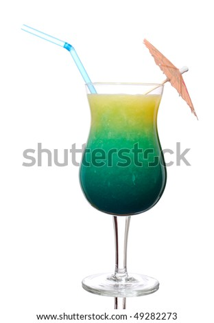 Swimming pool cocktail  Swimming Pool Cocktail Alcoholic Cocktail Based Stock Photo ...
