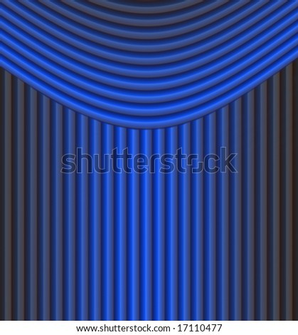 blue curtain background - stock photo