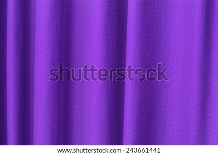 blue curtain texture background - stock photo