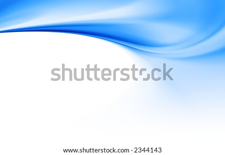 blue curves background - stock photo