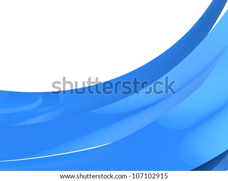 Blue curves background over white - stock photo