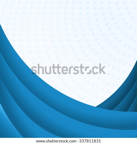 Blue curves background with white copy space. - stock photo