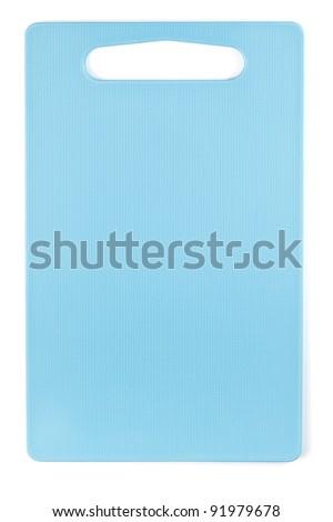 blue cutting board - stock photo