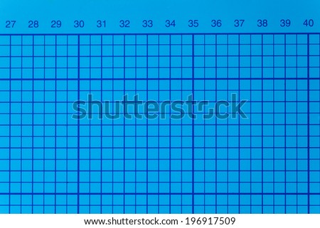 Blue cutting mat with numbers - stock photo