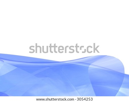 Blue 3d Abstract - stock photo