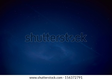 Blue dark night sky with many stars. Space background - stock photo