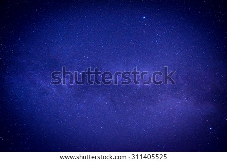 Blue dark night sky with many stars. Space milkyway background - stock photo