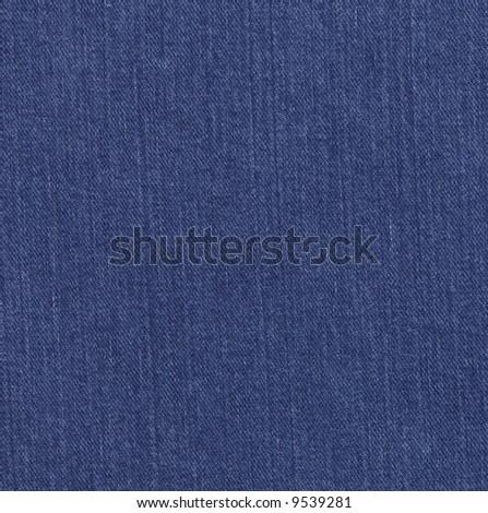 Blue denim fabric - stock photo