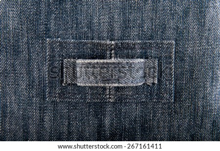 blue denim fabric as the background - stock photo