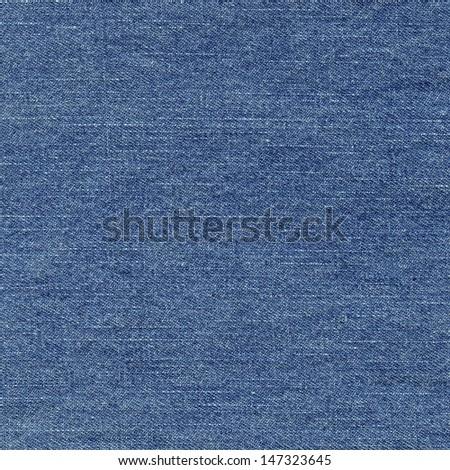 Blue denim jeans texture, background - stock photo