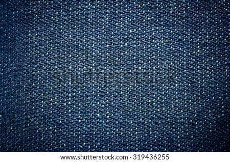 Blue denim jeans texture background - stock photo