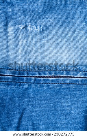 Blue denim or jeans - stock photo
