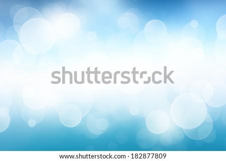 Blue desktop wallpaper with bokeh light - stock photo