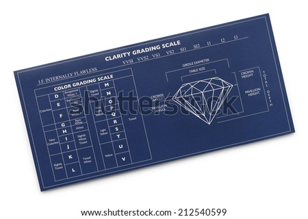 Blue Diamond Diagram Chart Isolated on White Background. - stock photo