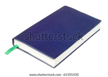 Blue diary - stock photo