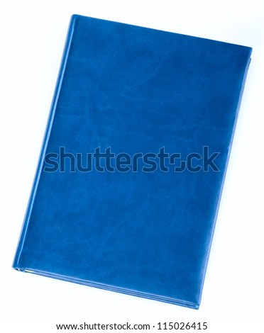 Blue diary book isolated - stock photo