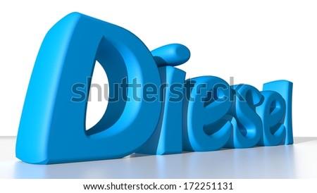 Blue Diesel - stock photo
