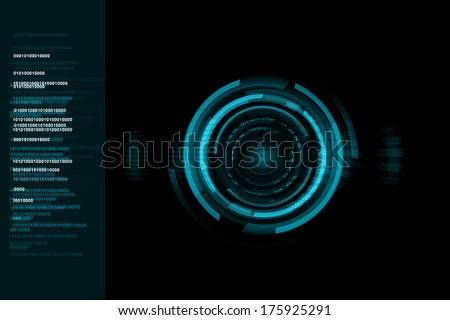 blue digital technology background - stock photo