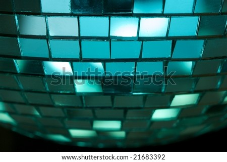 Blue disco lights background - stock photo
