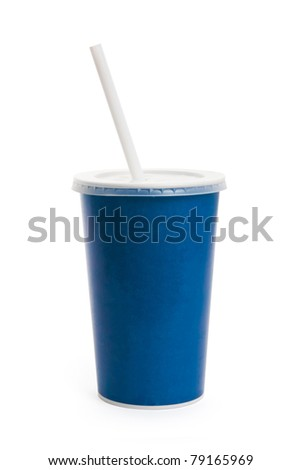 Blue Disposable Cup close up