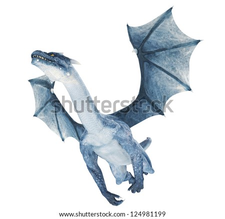 blue dragon - stock photo