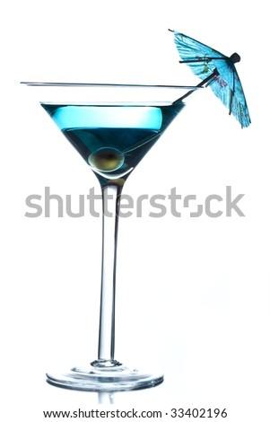 Blue drink - stock photo
