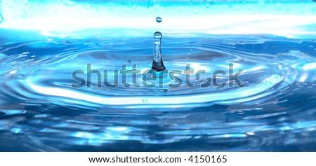 Blue drop - stock photo