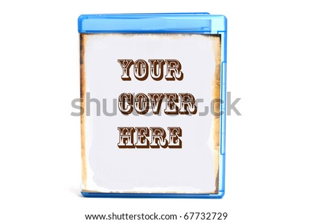 Blue DVD case, you can insert your own cover or text - stock photo