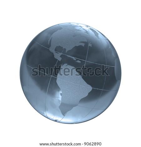 blue earth - stock photo