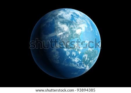 blue earth, northern america - stock photo