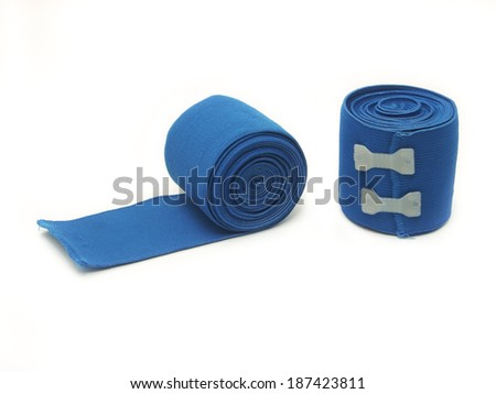 Blue elastic bandages for your muscle and good looking. - stock photo