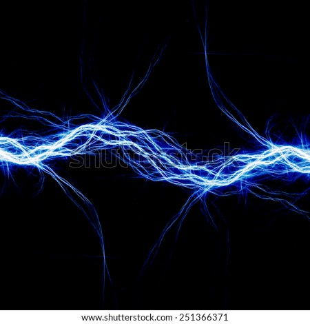abstract blue electricity - photo #14