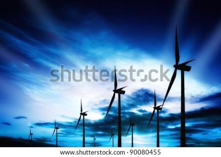 Blue Energy - stock photo