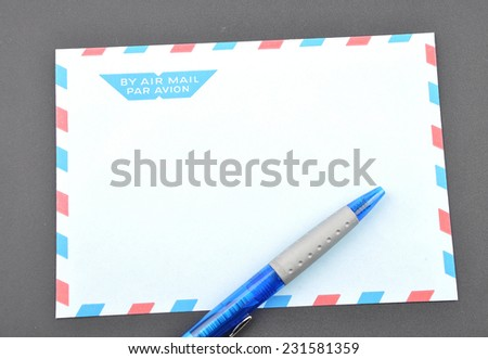 Blue envelope - stock photo