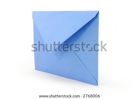 blue envelope, concept of communication - stock photo