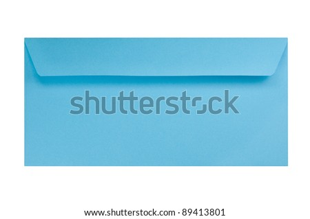 Blue Envelope isolated on white - stock photo