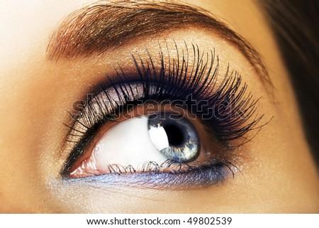 Blue eye - stock photo