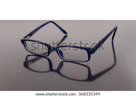 blue eye glasses - stock photo