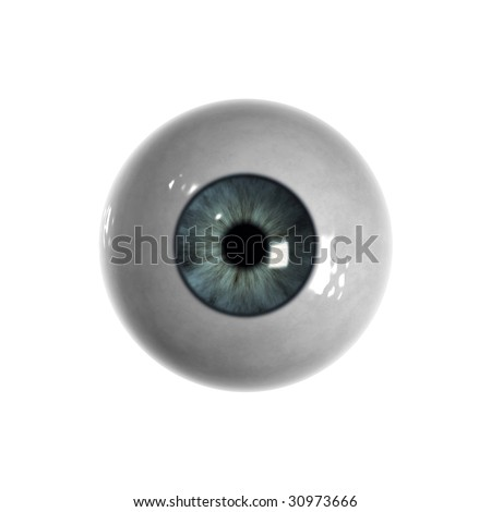 Blue eyeball with almost no veins visible