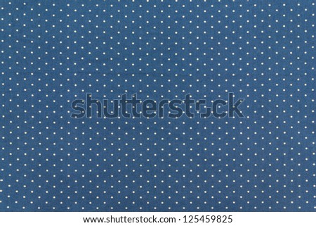 Blue Fabric and White Tiny  Polka Dots Background - stock photo