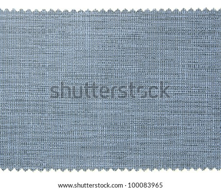 Blue fabric swatch samples texture - stock photo