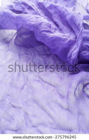 blue fabric texture transparent. Abstract Multicolored Soft Chiffon Wavy Fabric Texture Background. Blue Wavy Aquamarine Fabric Texture Background Close-up - stock photo
