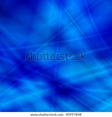 Blue fantasy background - stock photo