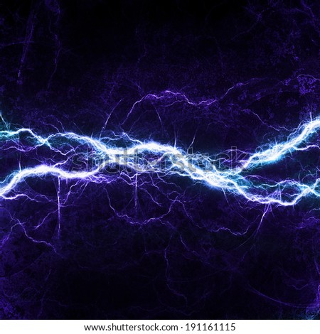 Blue fantasy lightning, big electrical discharge - stock photo