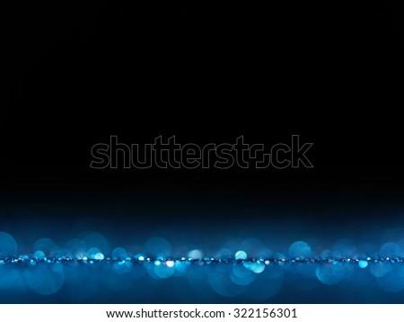 Blue Festive Christmas elegant abstract background with bokeh lights.Christmas card. bokeh lights. concept. - stock photo