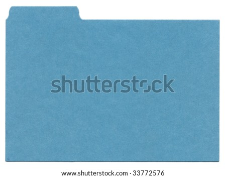 Blue File Background - stock photo