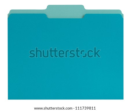 Blue File Folder - stock photo
