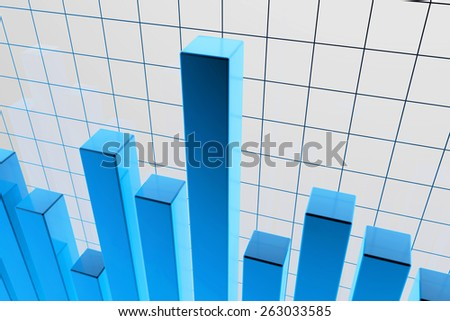 blue financial stat background graphic - 3d rendered illustration - stock photo