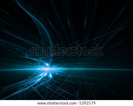 blue fire horizon - stock photo