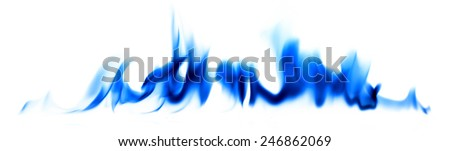 Blue fire light smoke abstract background - stock photo